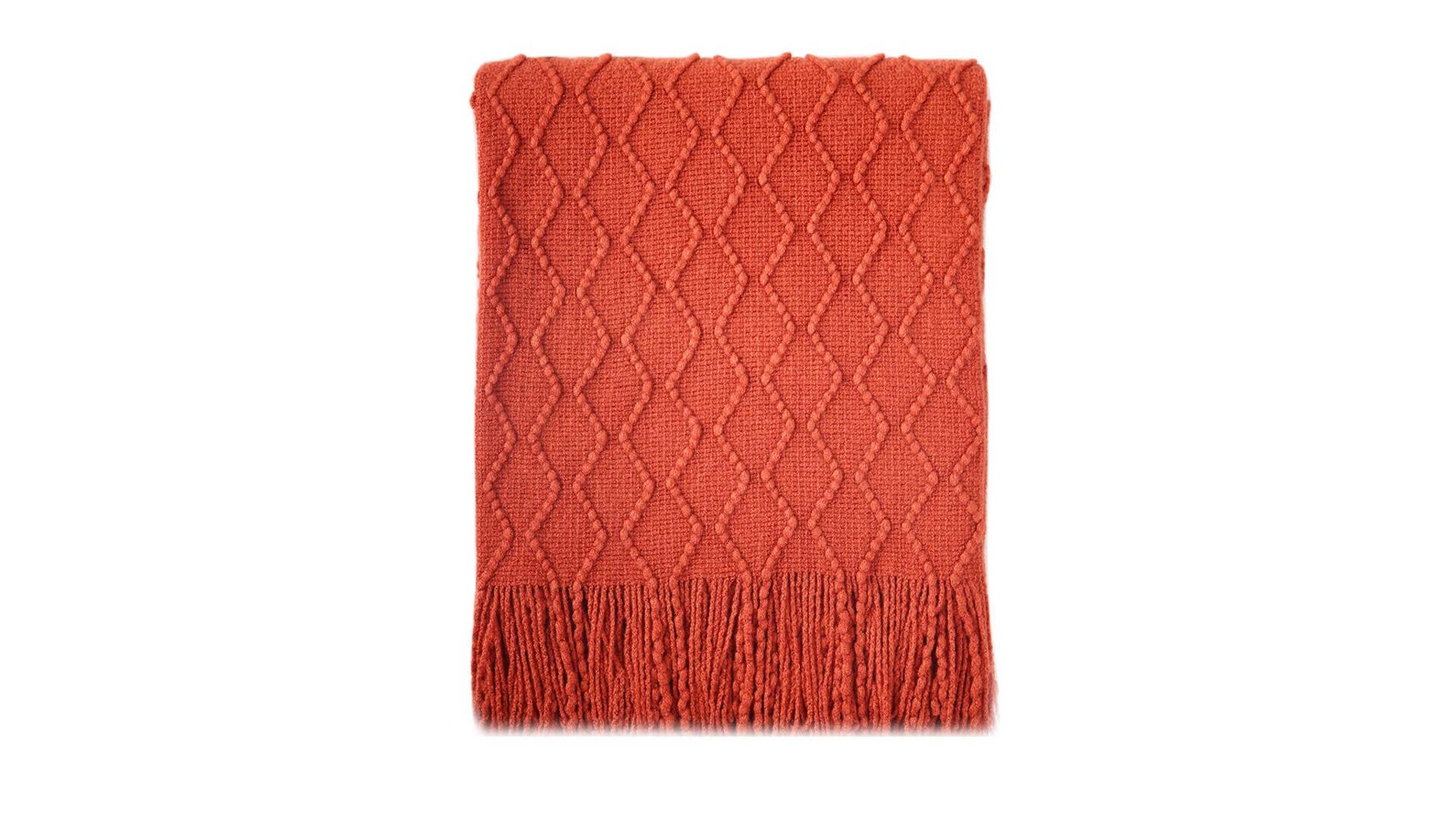 The BOURINA textured throw blanket.