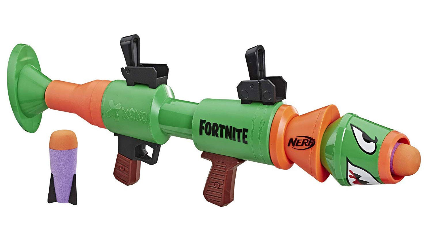 A Fortnite-branded toy rocket launcher.