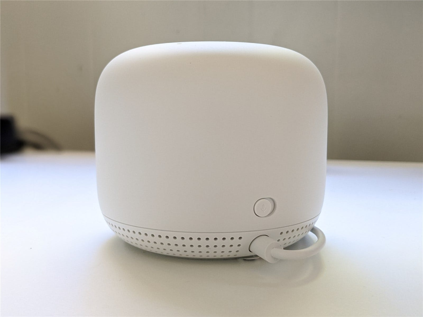 The back of the Nest Wifi point