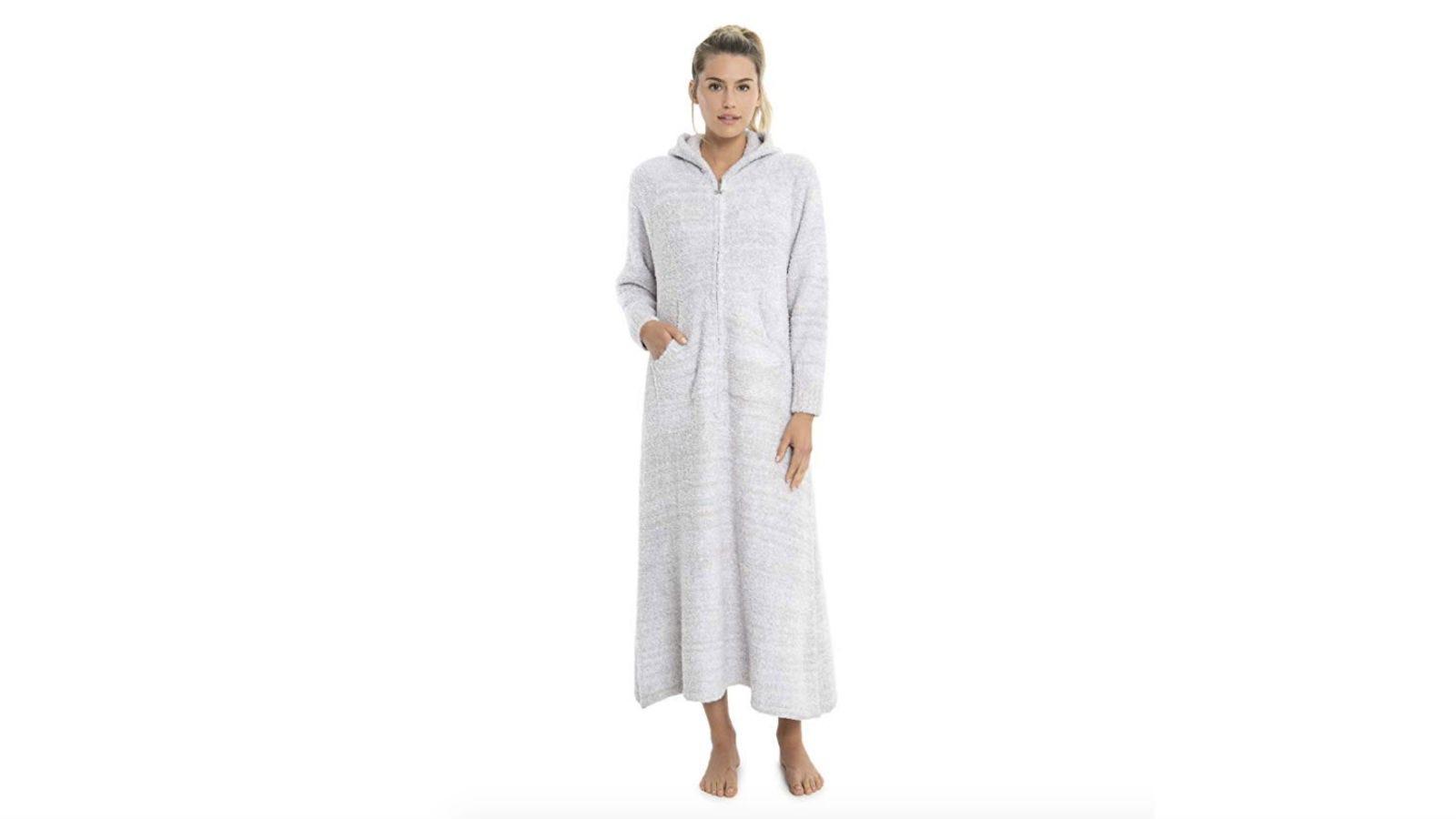 barefoot dreams zip up robe