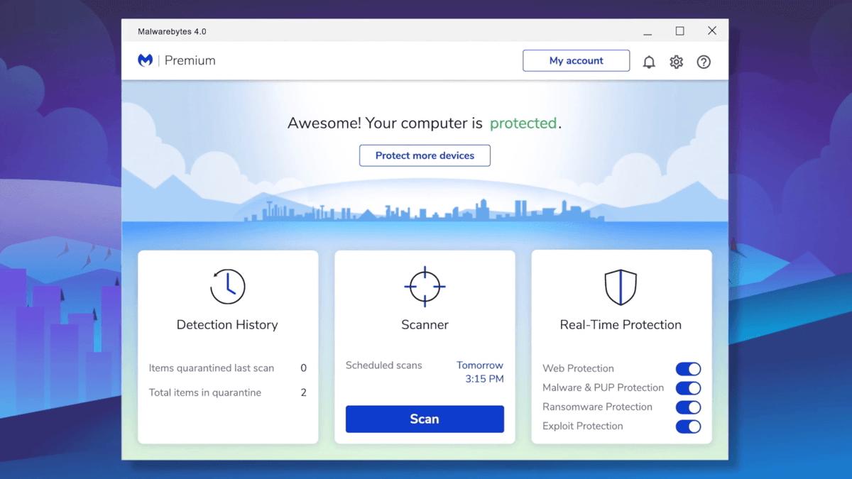 Malwarebytes 4.0 Interface