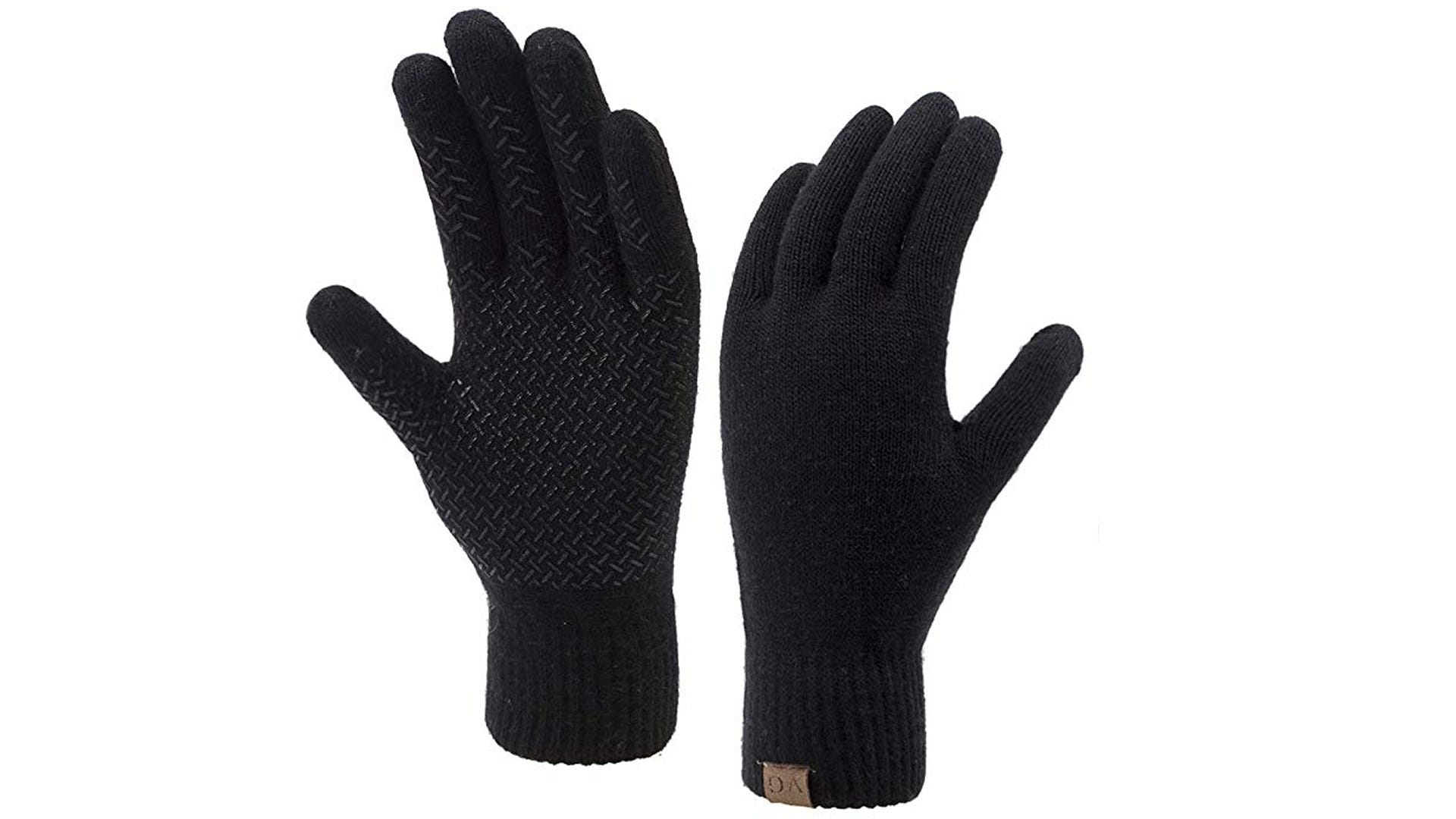 A pair of black ViGrace Winter Touchscreen Gloves.
