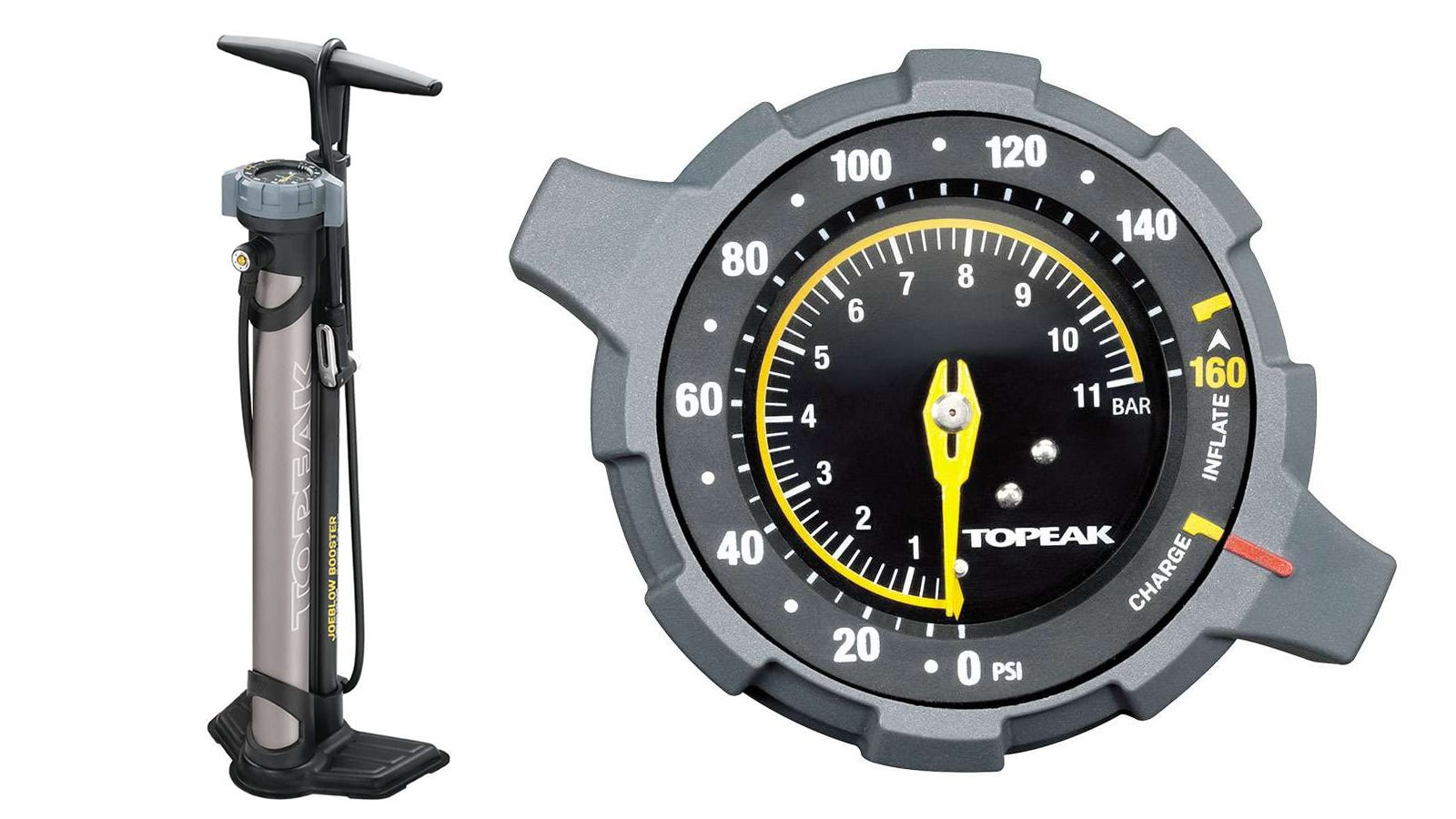 Topeak Joe Blow Booster bike floor pump