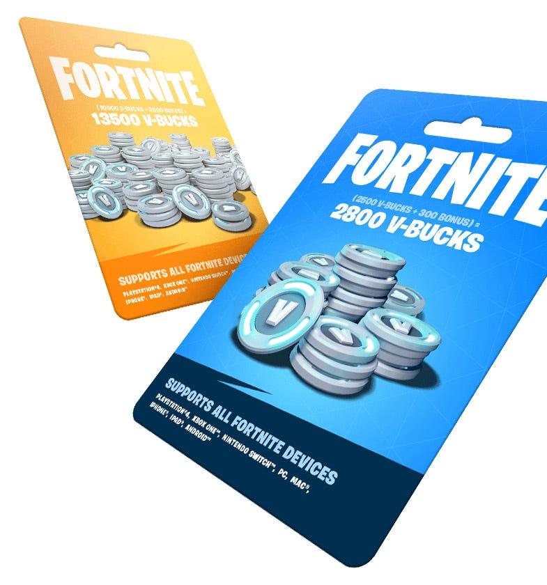 Fortnite-branded gift cards.