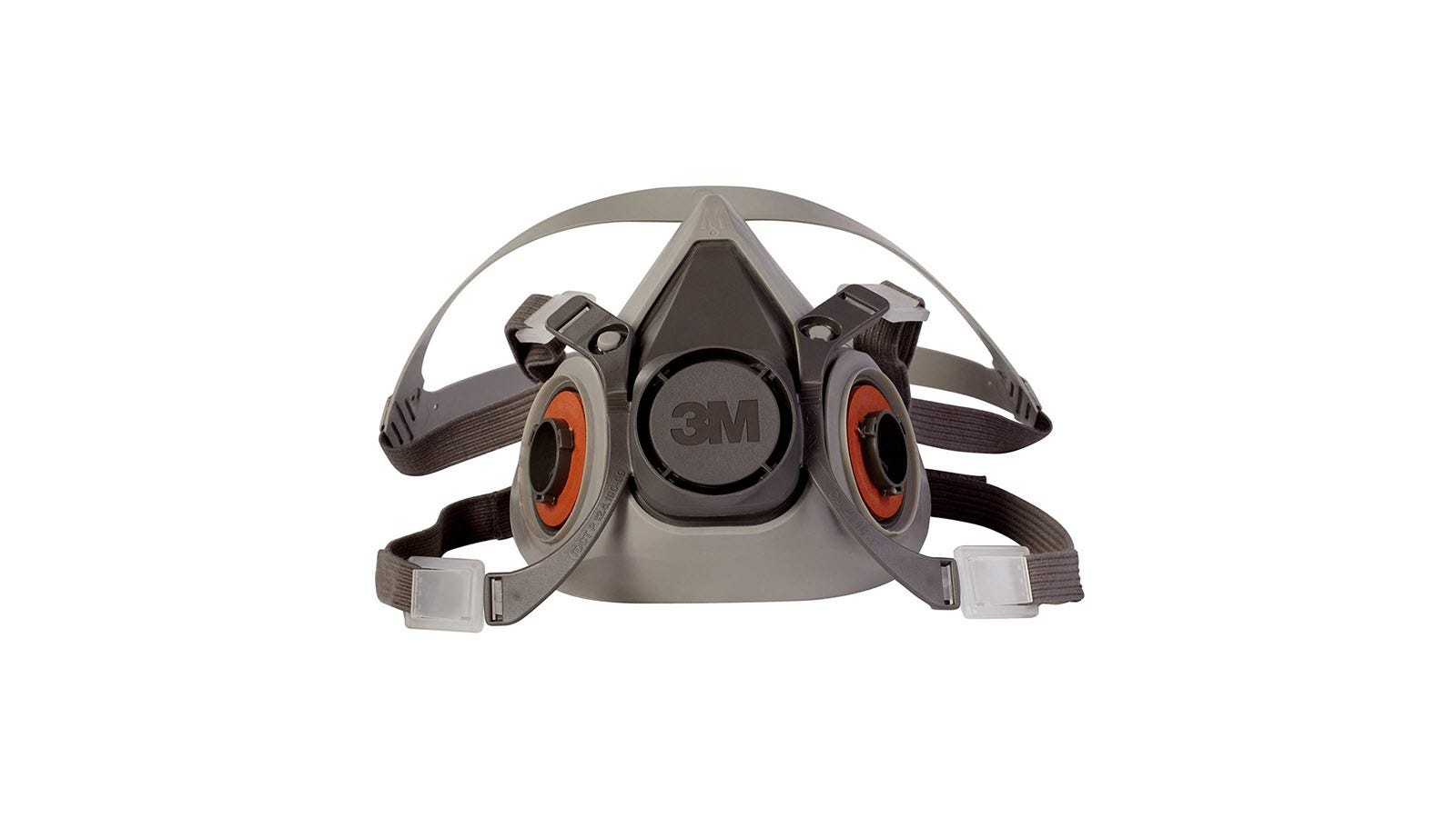 A respirator half mask with no filters attached.