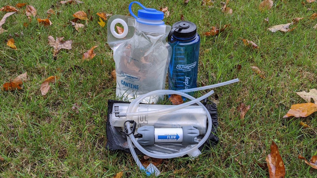 Platypus GravityWorks backpacking water filter