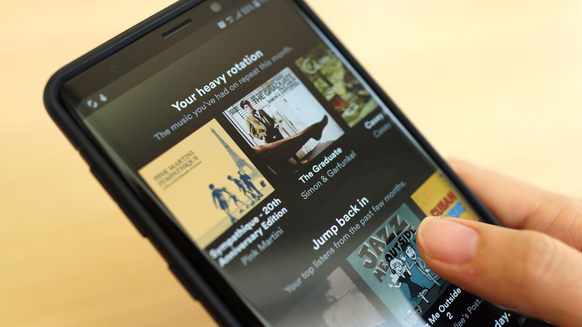Spotify on an Android phone