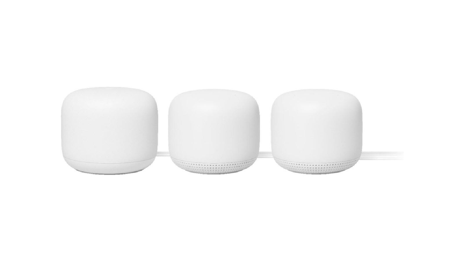 Three Nest WIFI access ponts in a row.
