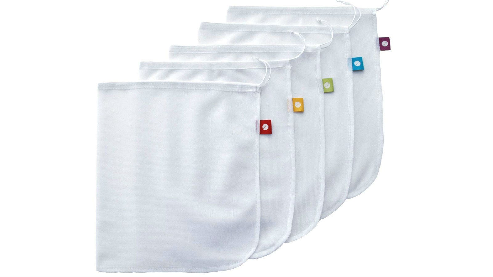 Five Flip and Tumble Produce Bags.