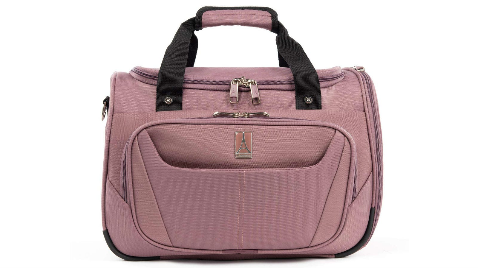 The TravelPro Luggage MaxLite Lightweight Carry-On Under Seat Tote in dusty rose.