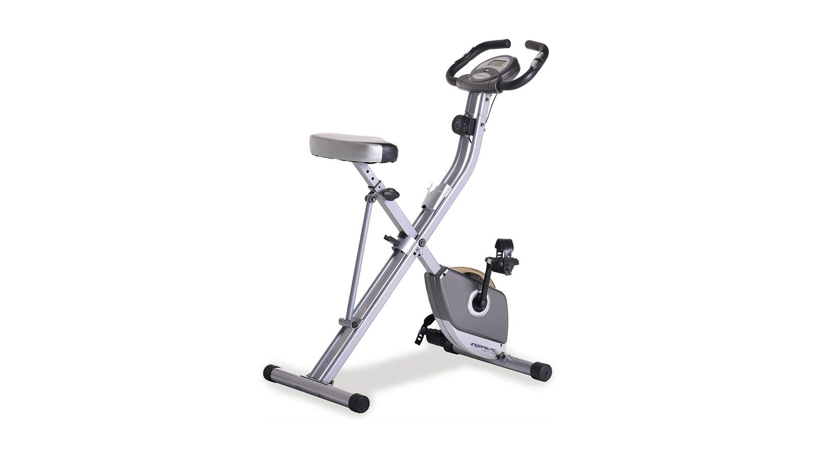 The Exerpeutic Folding Magnetic Exercise Bike.