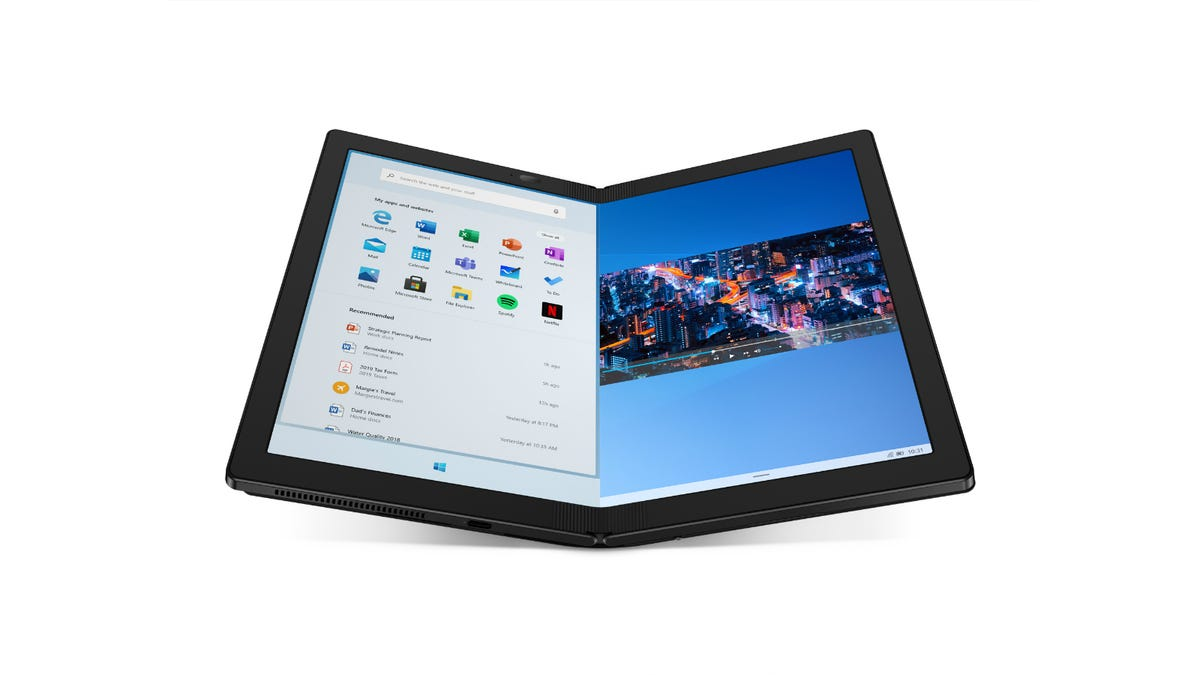 Front view of the Lenovo ThinkPad X1 Fold
