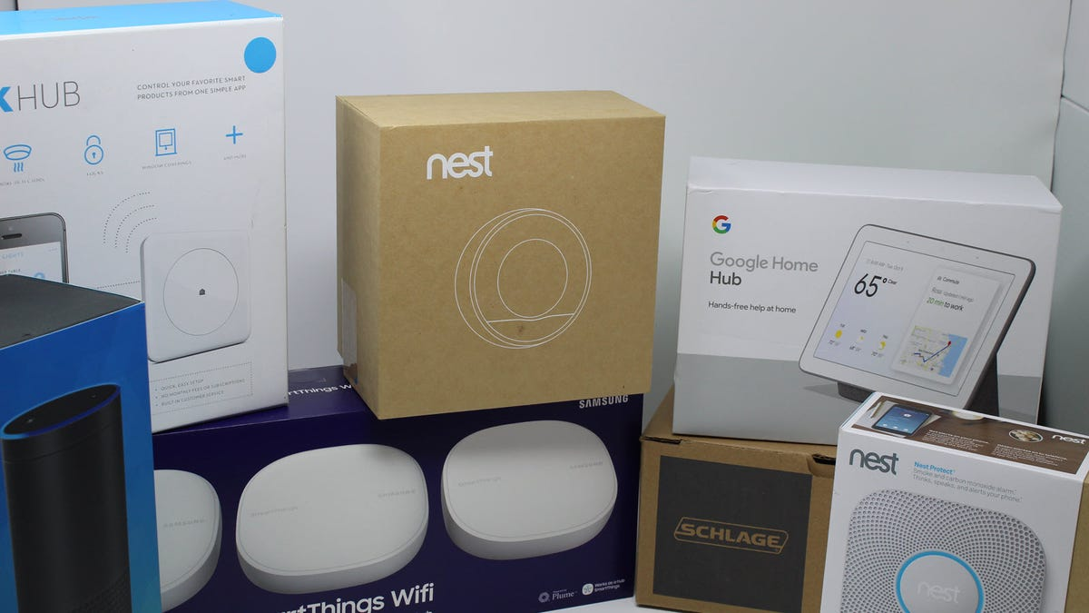An Echo, Google Home, SmartThings, Nest, and more.