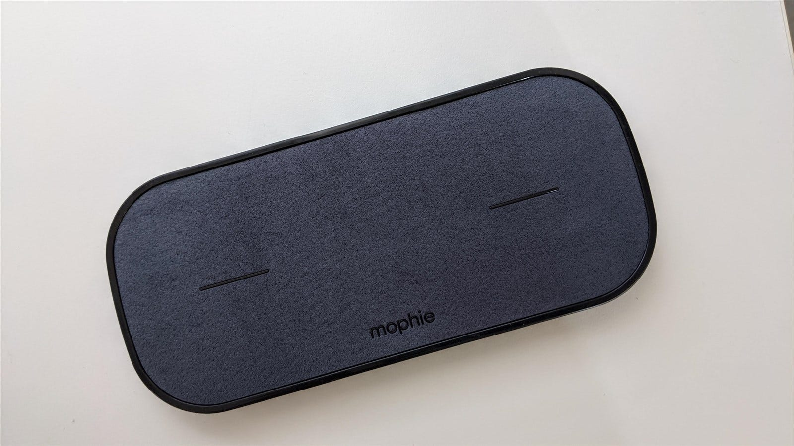 The Mophie Dual Wireless Charging Pad