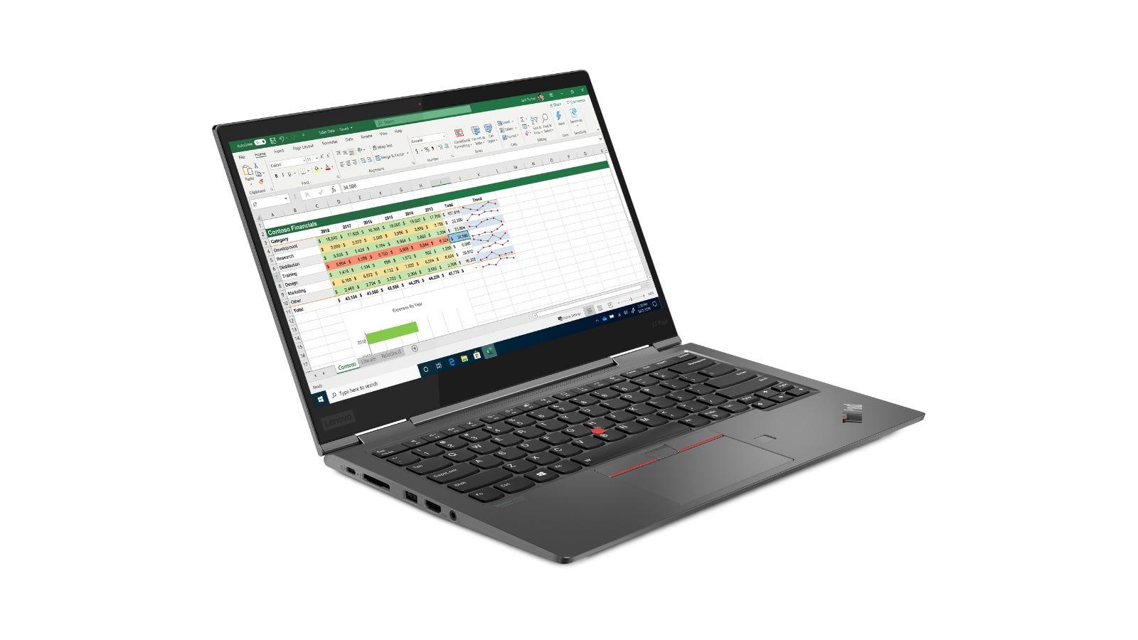 Lenovo ThinkPad X1 Yoga 5th generation from the side