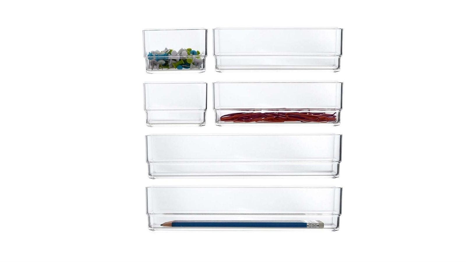 STORi Plastic Vanity Drawer Organizers