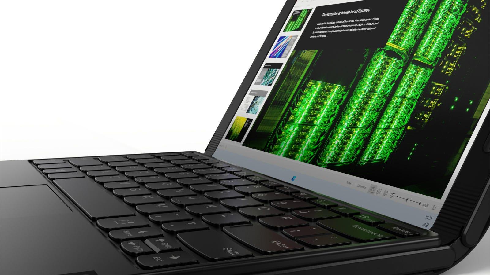Lenovo ThinkPad X1 Fold with the Mini Fold Keyboard