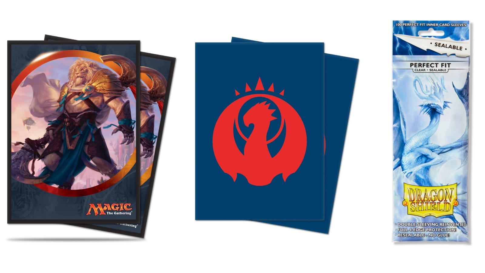 Ultra Pro Card Sleeves and Dragon Shield Perfect Fit Sleeves