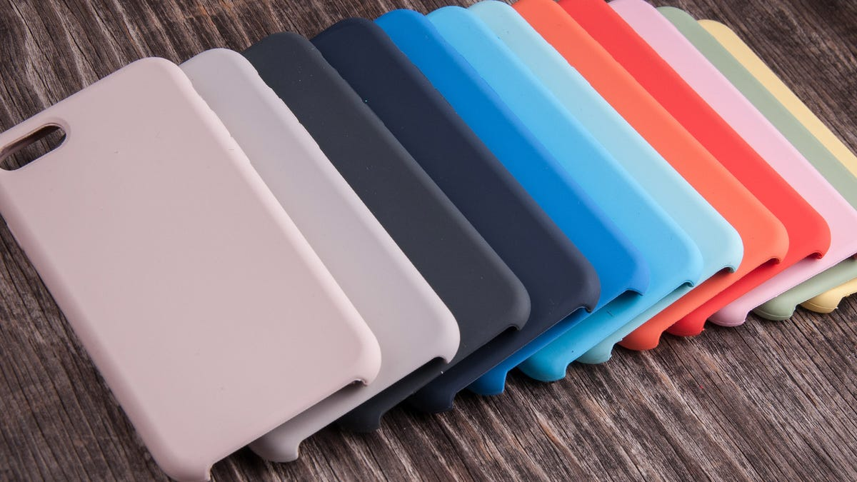A series of multicolored iPhone cases