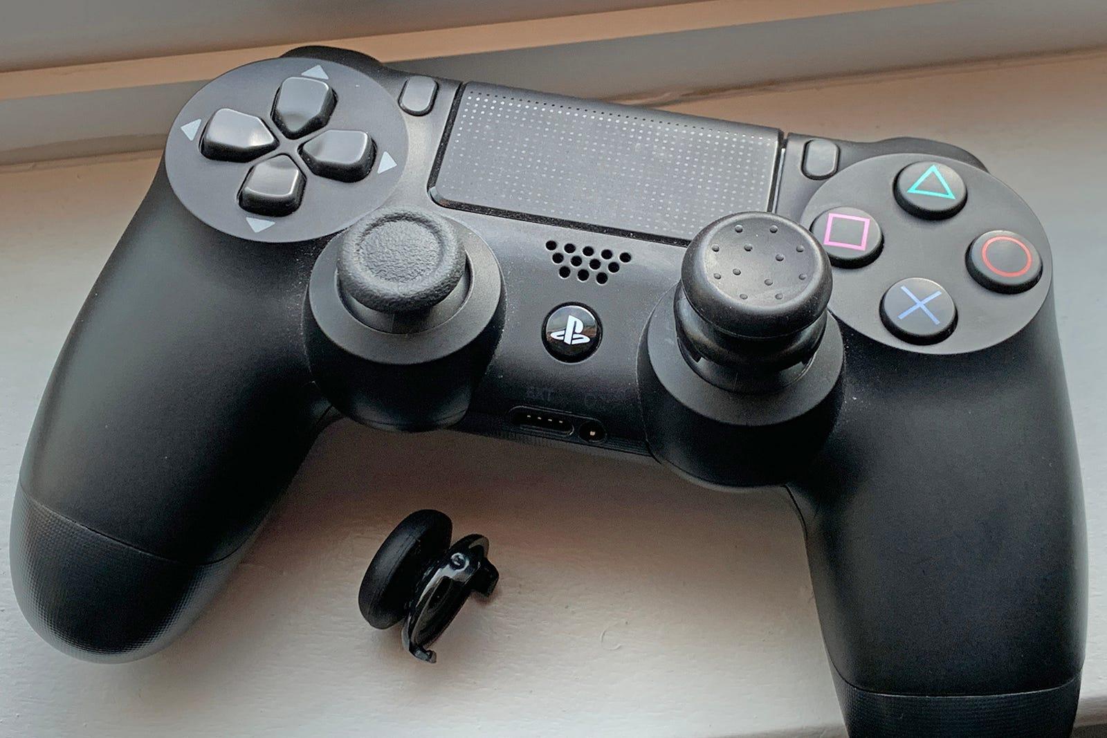 KontrolFreek performance thumbsticks on the DualShock 4
