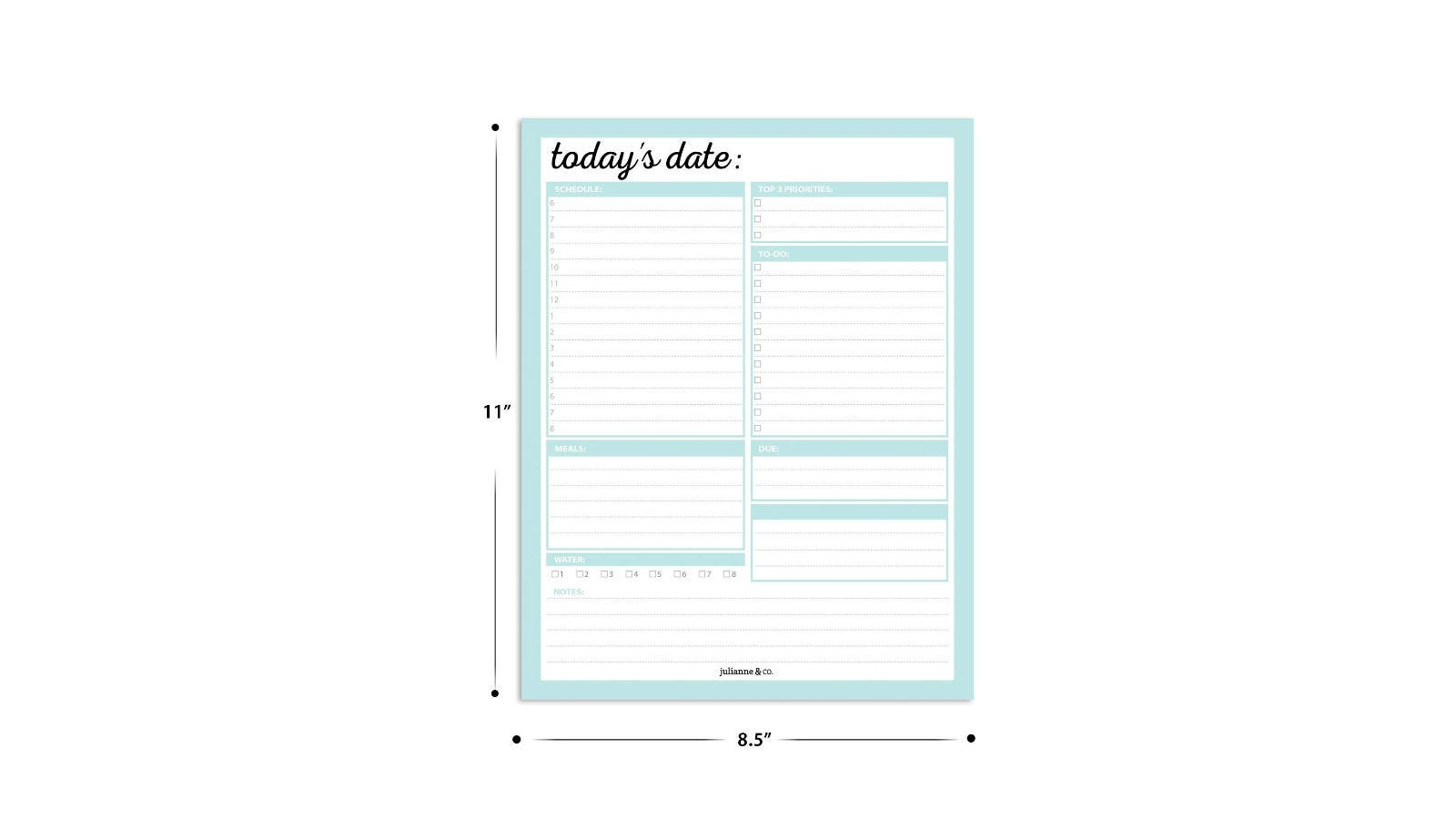 Julianne & Co. Daily To-Do Planner Notepad