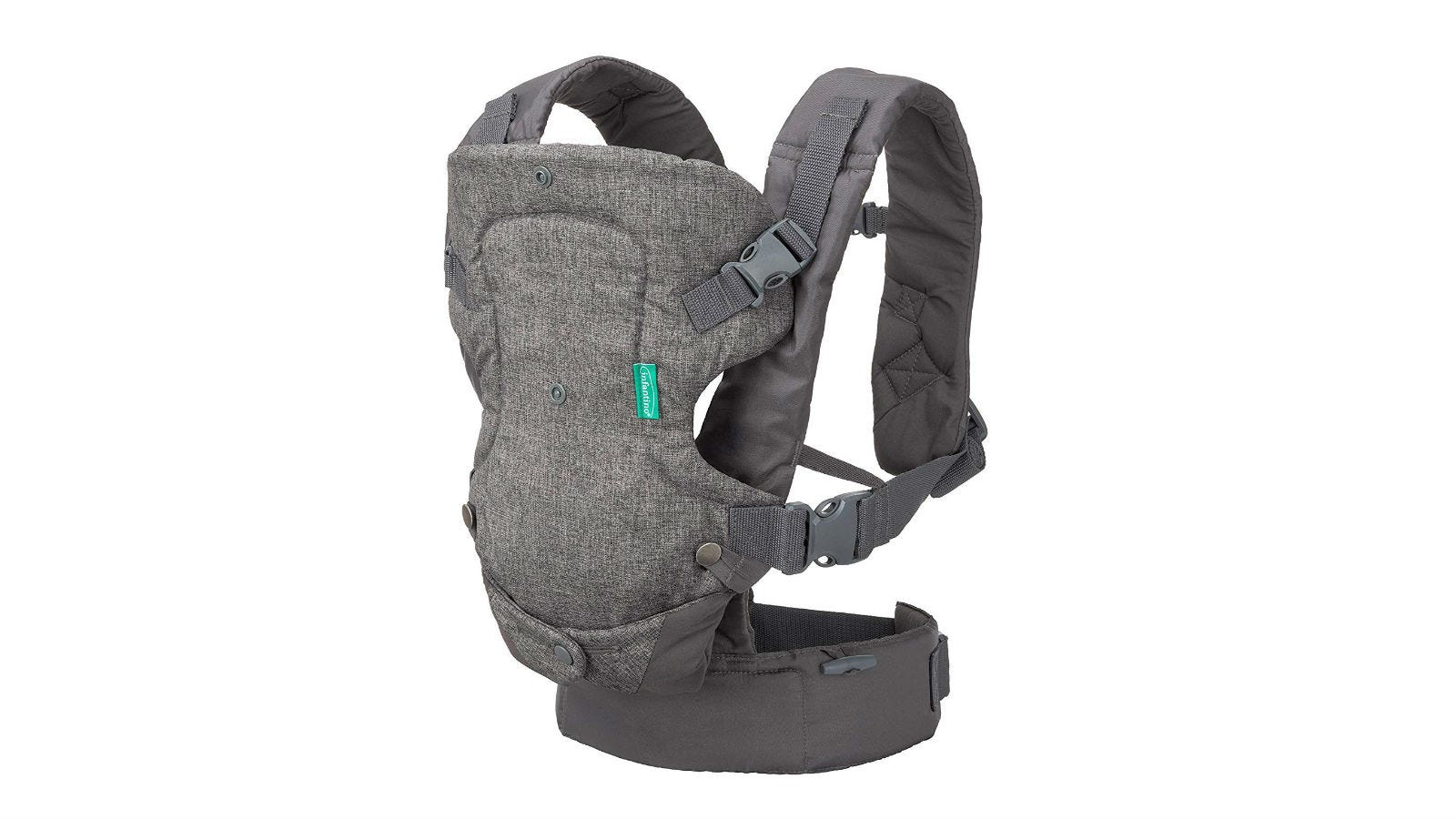 The Infantino Flip 4-in-1 Convertible Baby Carrier.