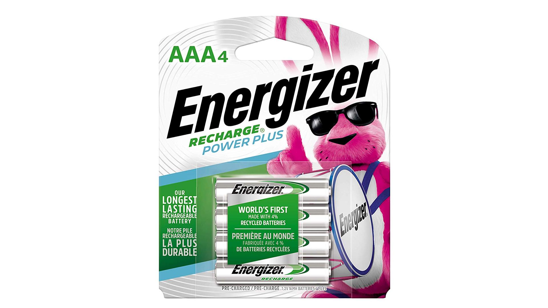 Energizer rechargable AAA batteries