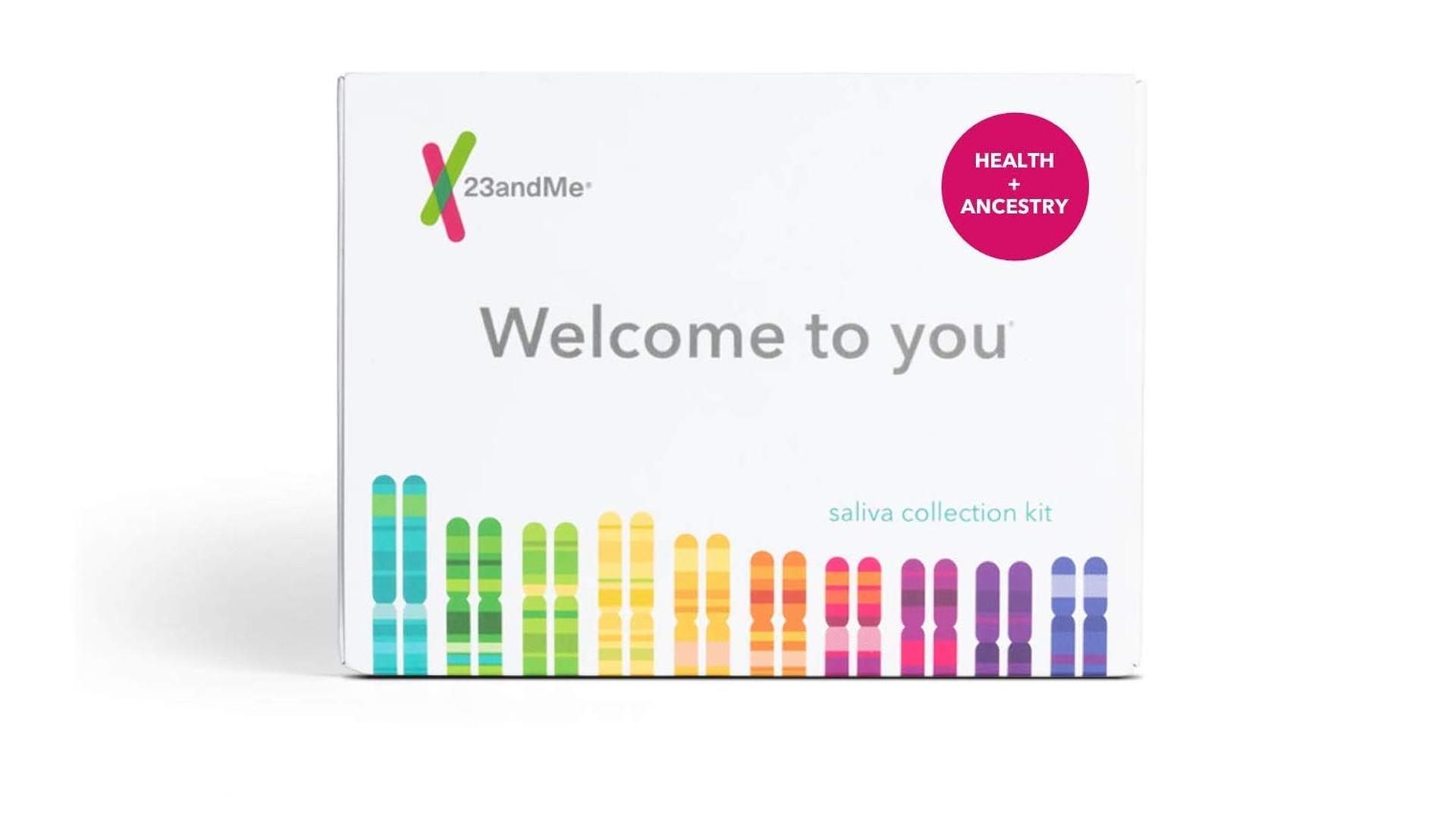 The 23andME DNA testing kit.