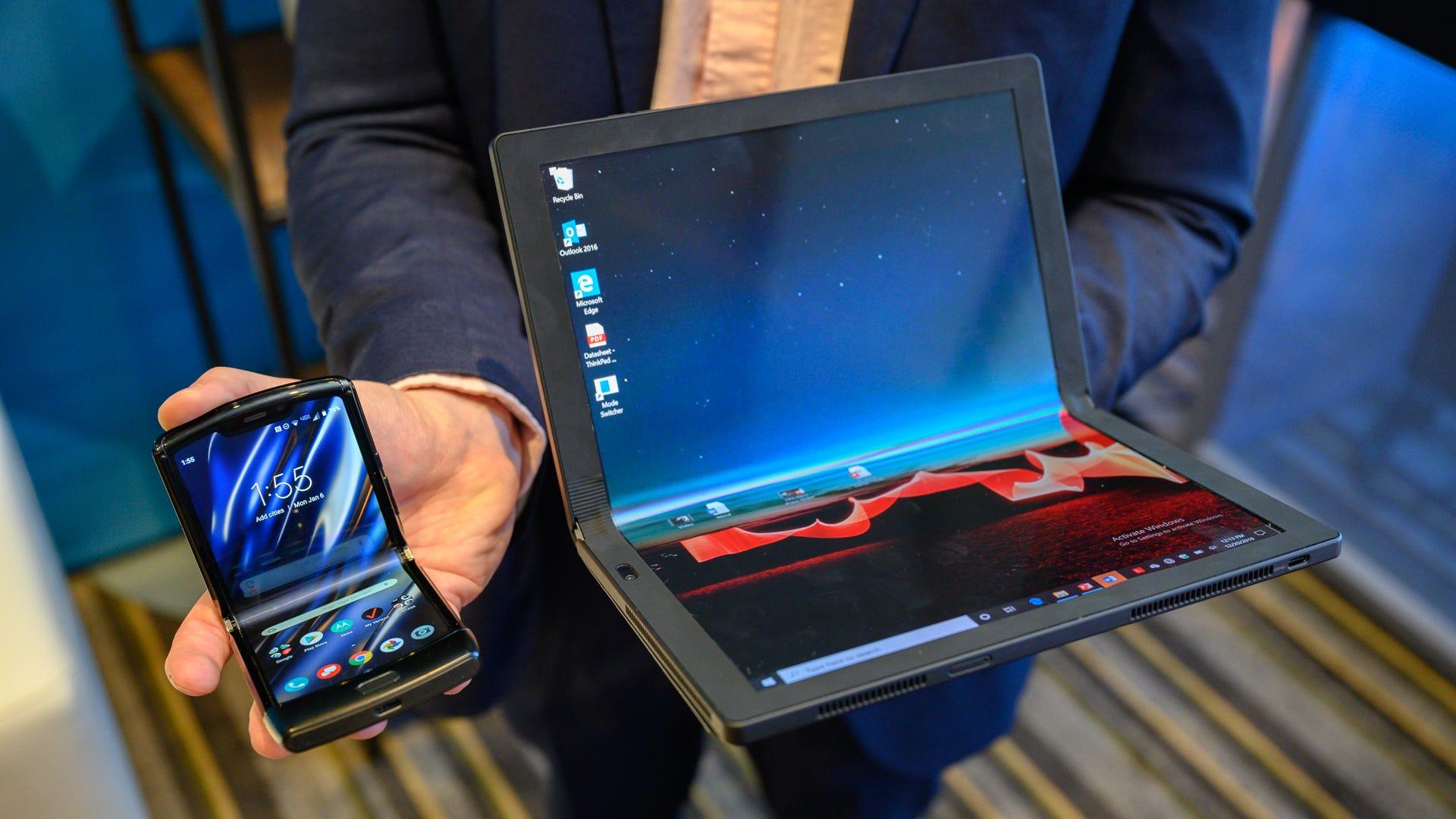 The Motorola Razr and Lenovo ThinkPad X1 Fold