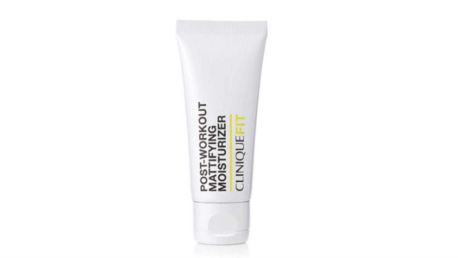 A tube of CliniqueFIT Post-Workout Mattifying Moisturizer.