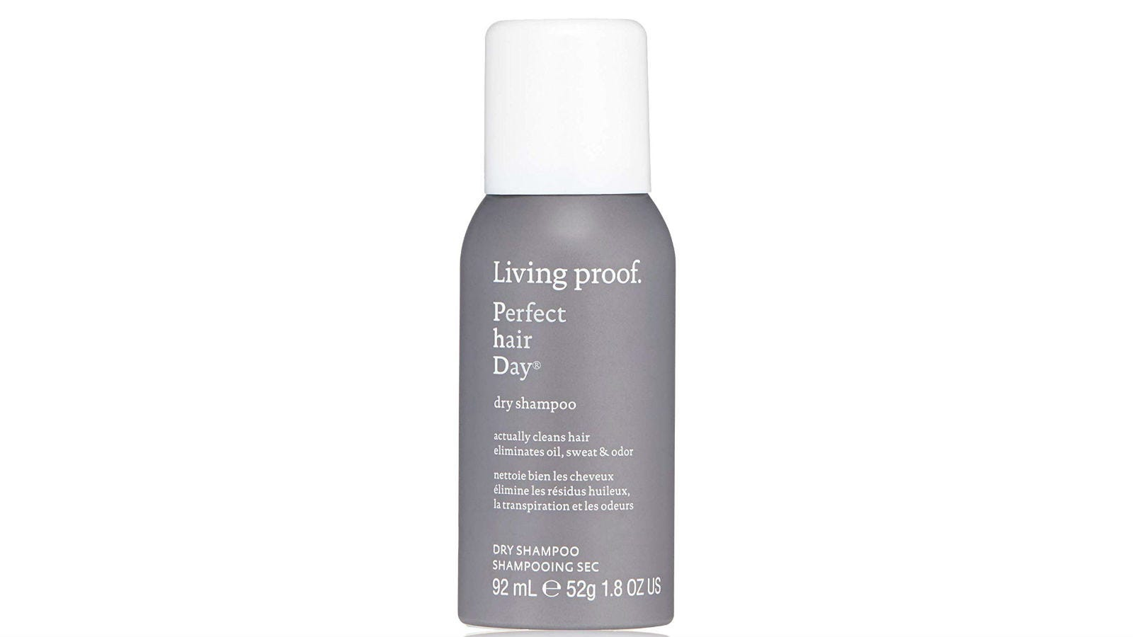A bottle of Living Proof Perfect Hair Day Dry Shampoo