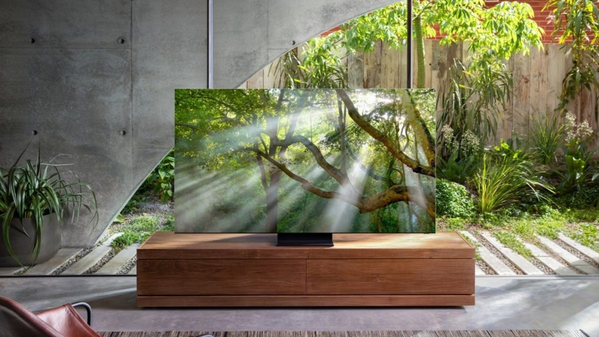 Samsung Q950 8K TV from the front