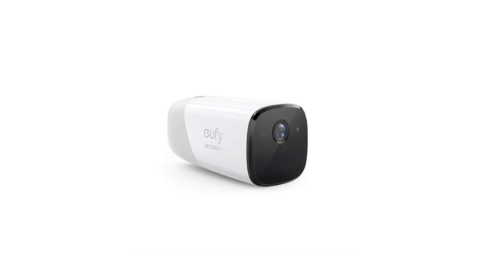 A singly Eufy Cam against a white background.