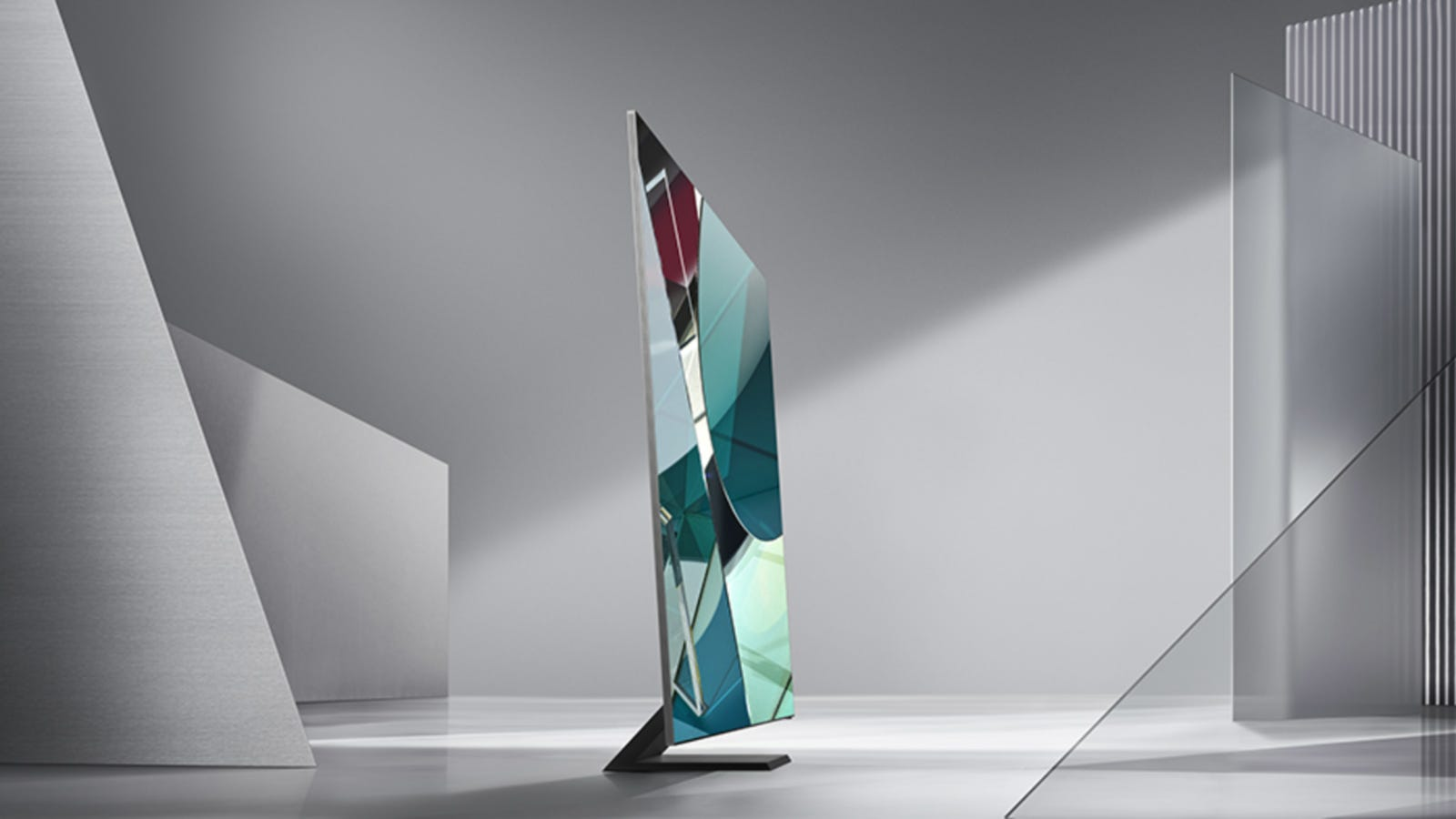 Samsung Q950TS 8K TV from the side