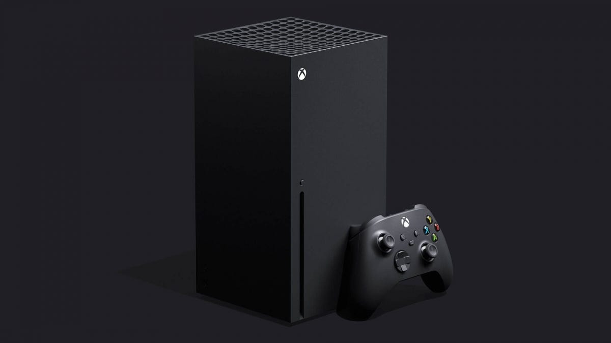 A render of the Microsoft Xbox Series X