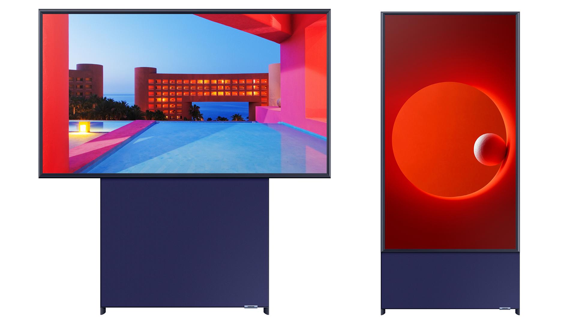 The Samsung Auto-Rotating 8K TV.