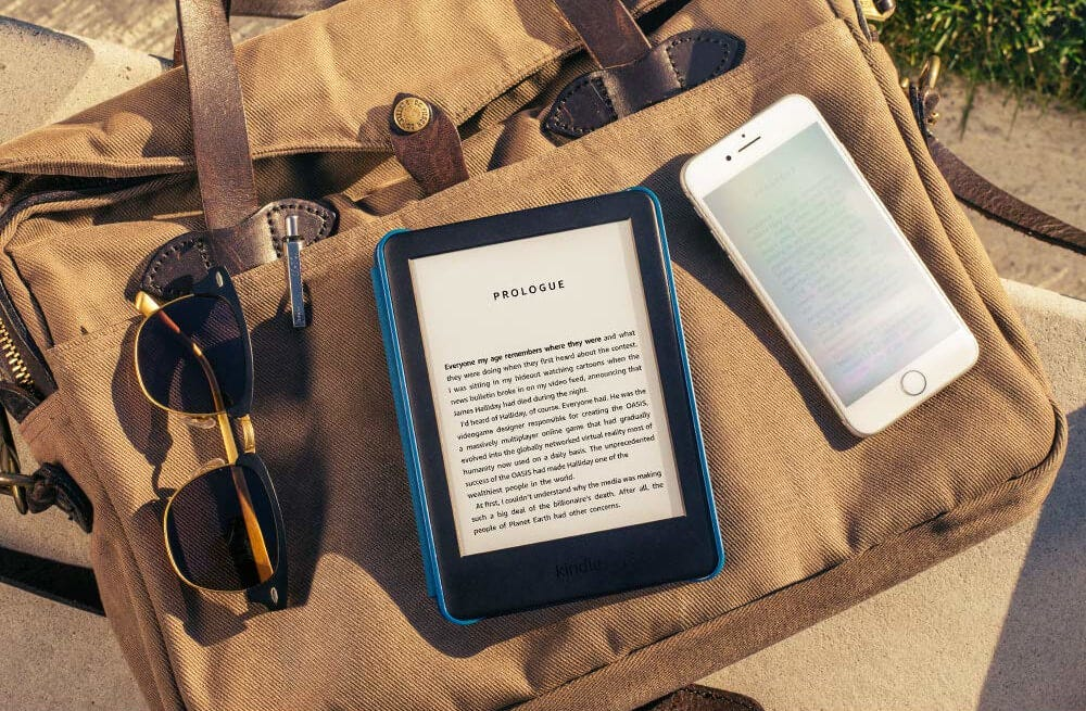 Amazon Kindle shown in direct sunlight.