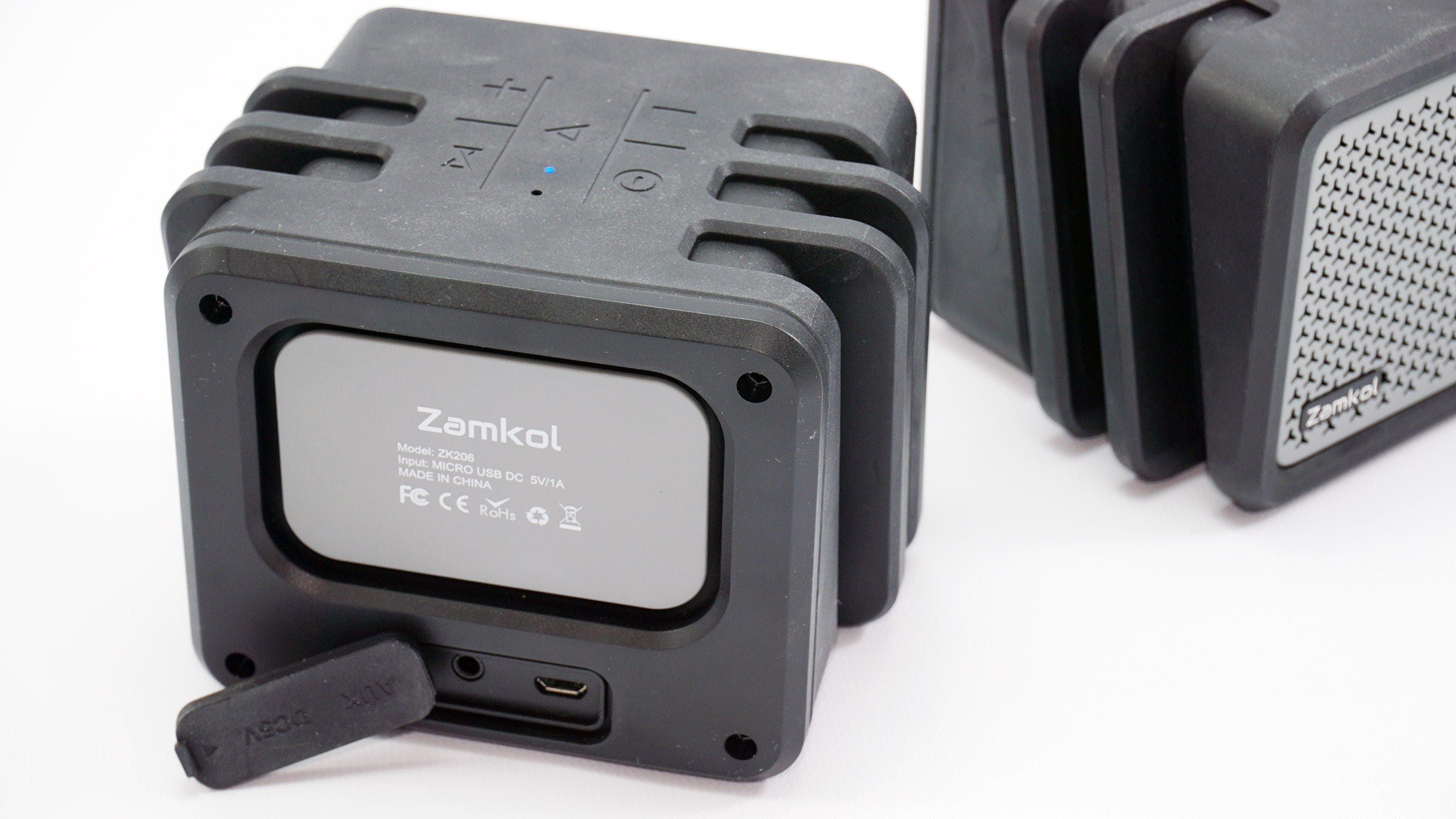 The rear and ports of the Zamkol speaker.
