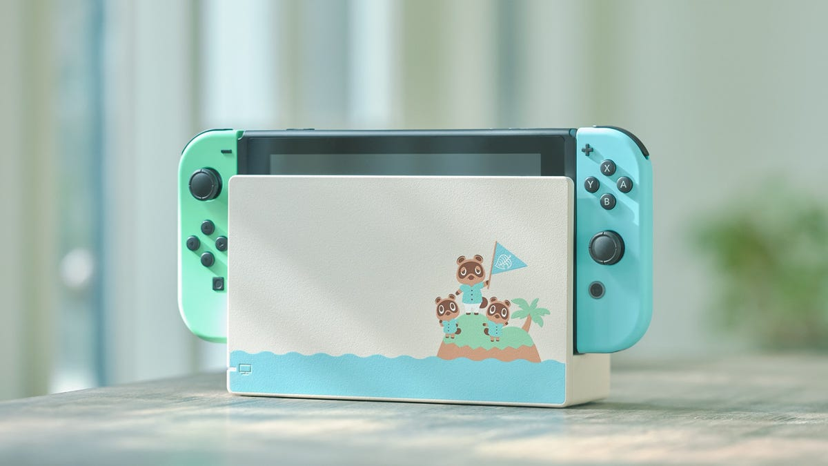 The Animal Crossing: New Horizons-themed Switch