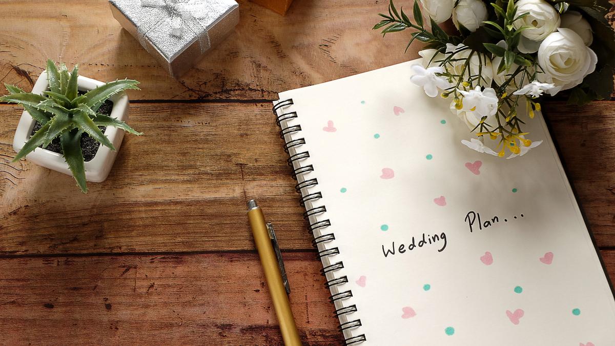 A wedding planner book