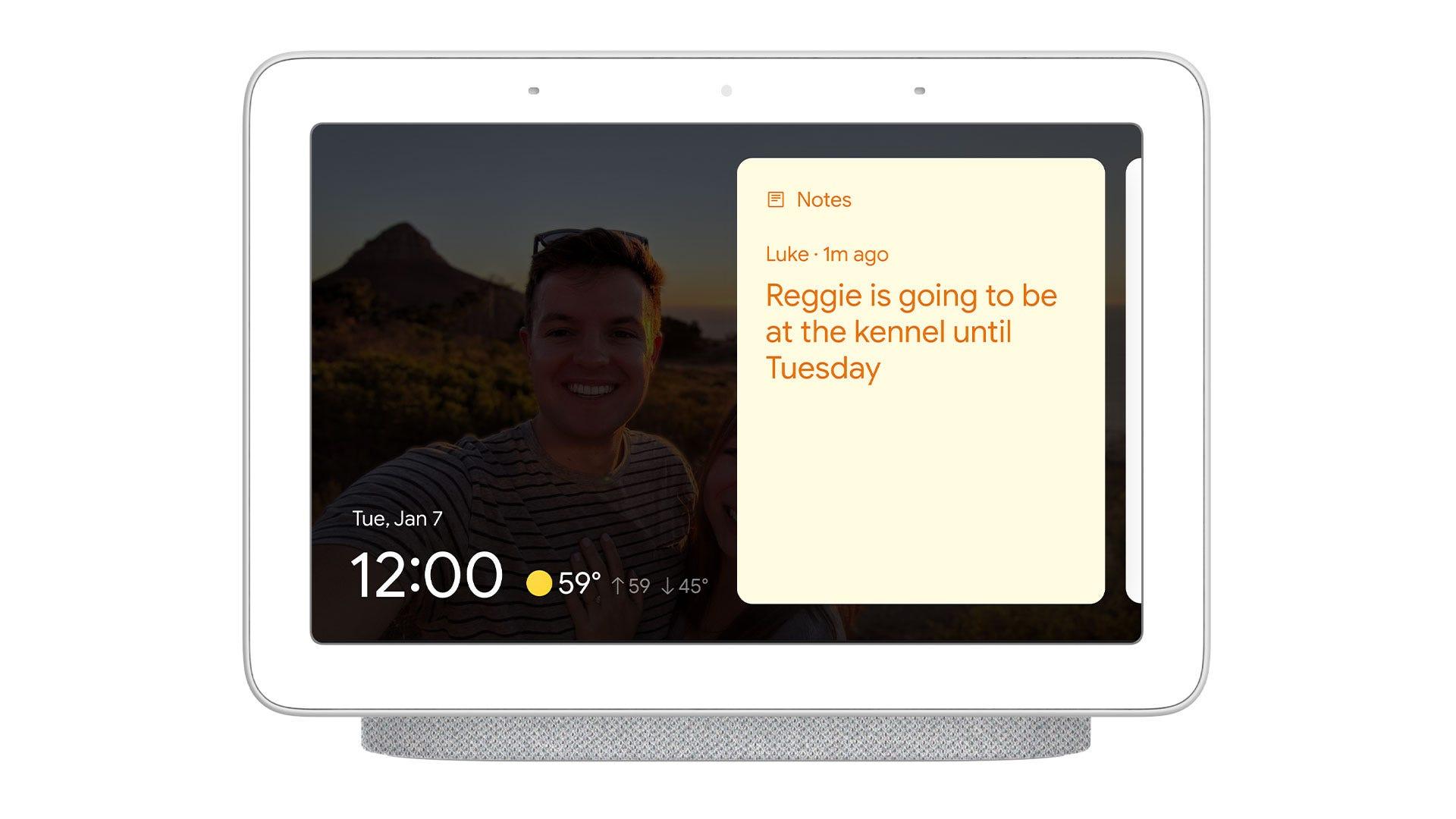 Google Smart Display Sticky Notes