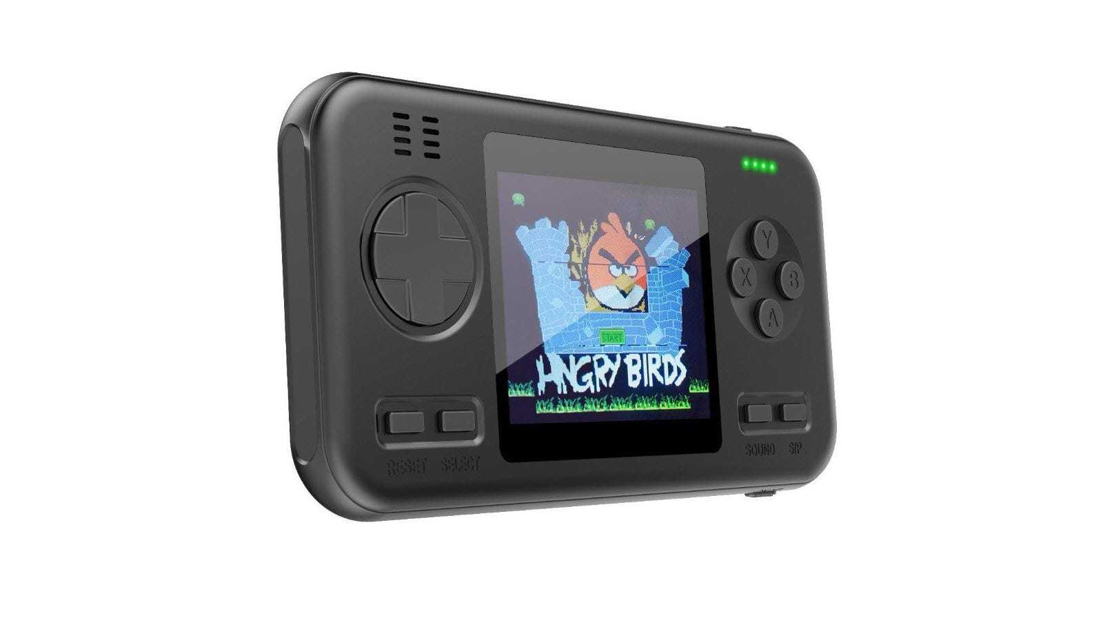 A black Gaming Power Bank with the Angry Birds splash screen.