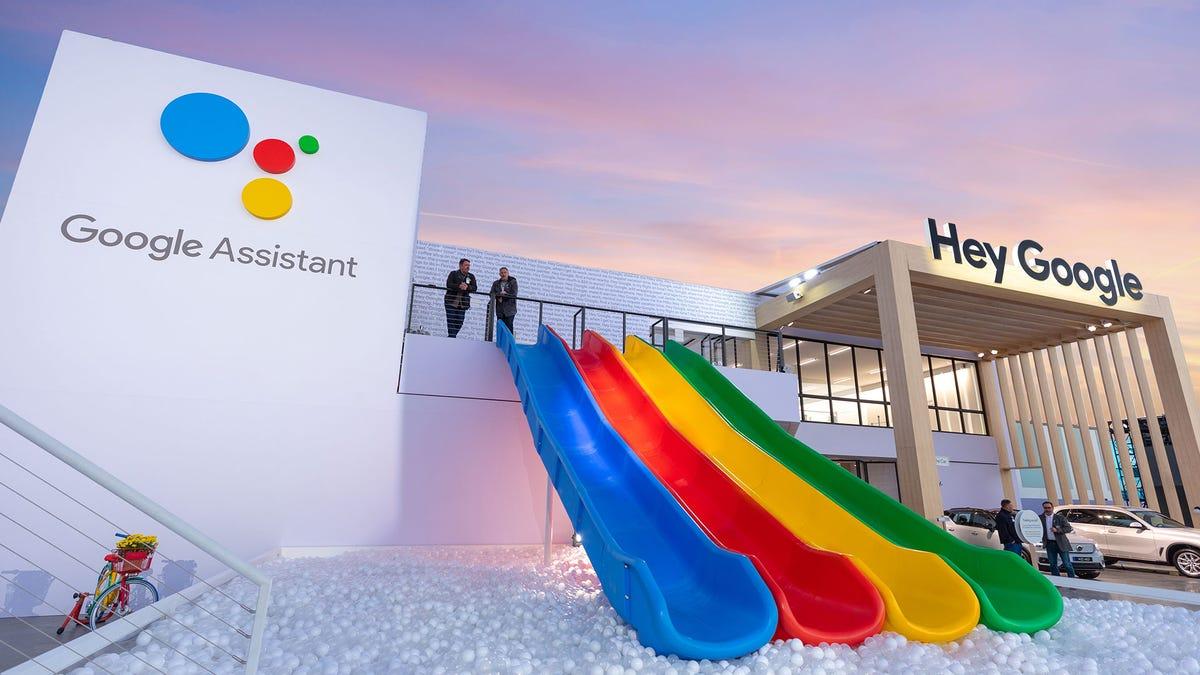 Google CES 2020 Playground Slide