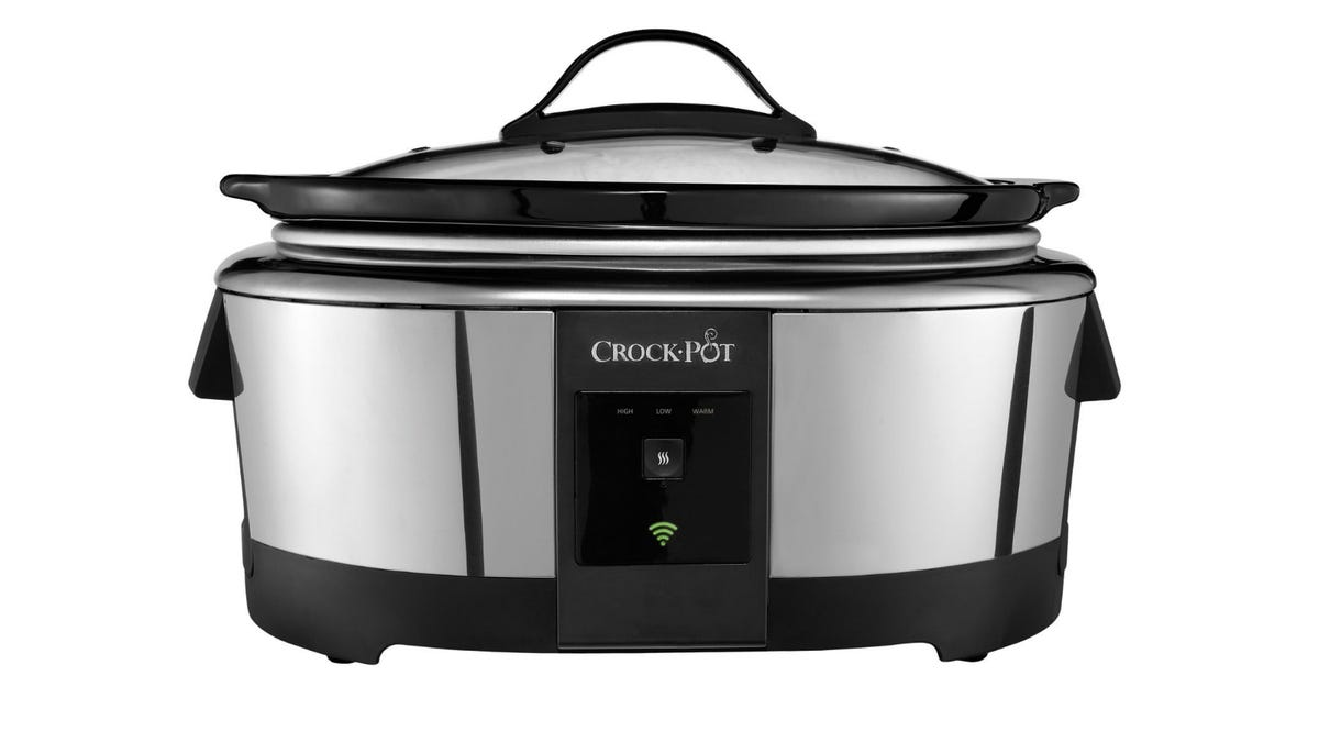 Front view of the Crock-Pot slow cooker with Amazon Alexa voice control