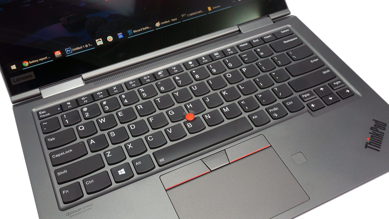 The keyboard on the X1 Yoga.