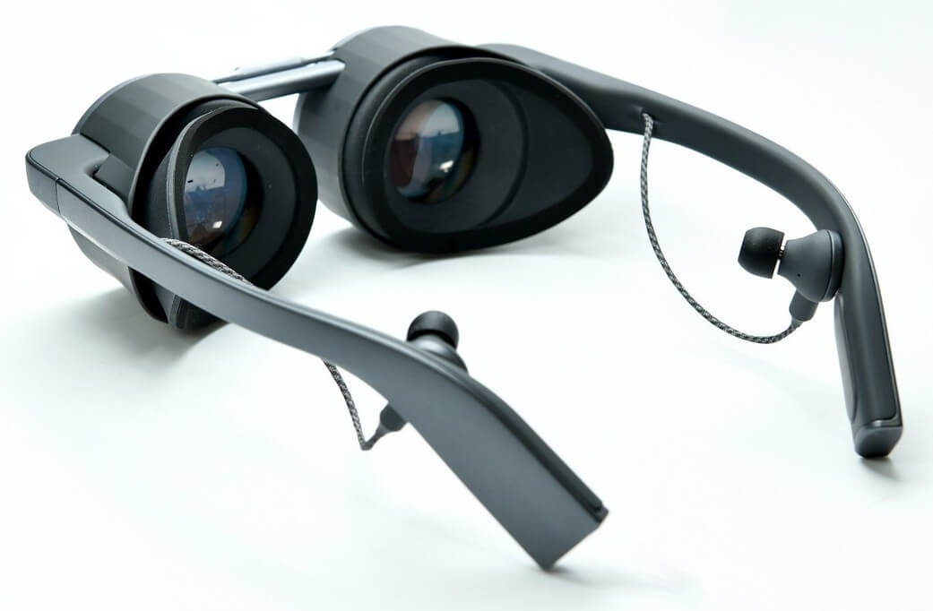 Behind view of the Panasonic VR glasses