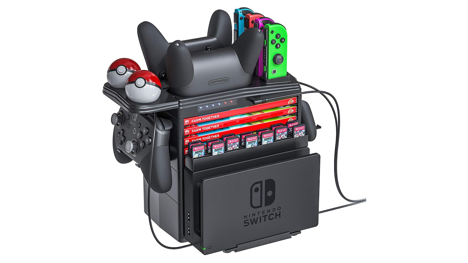 The Skywin Charging Tower for Nintendo Switch.