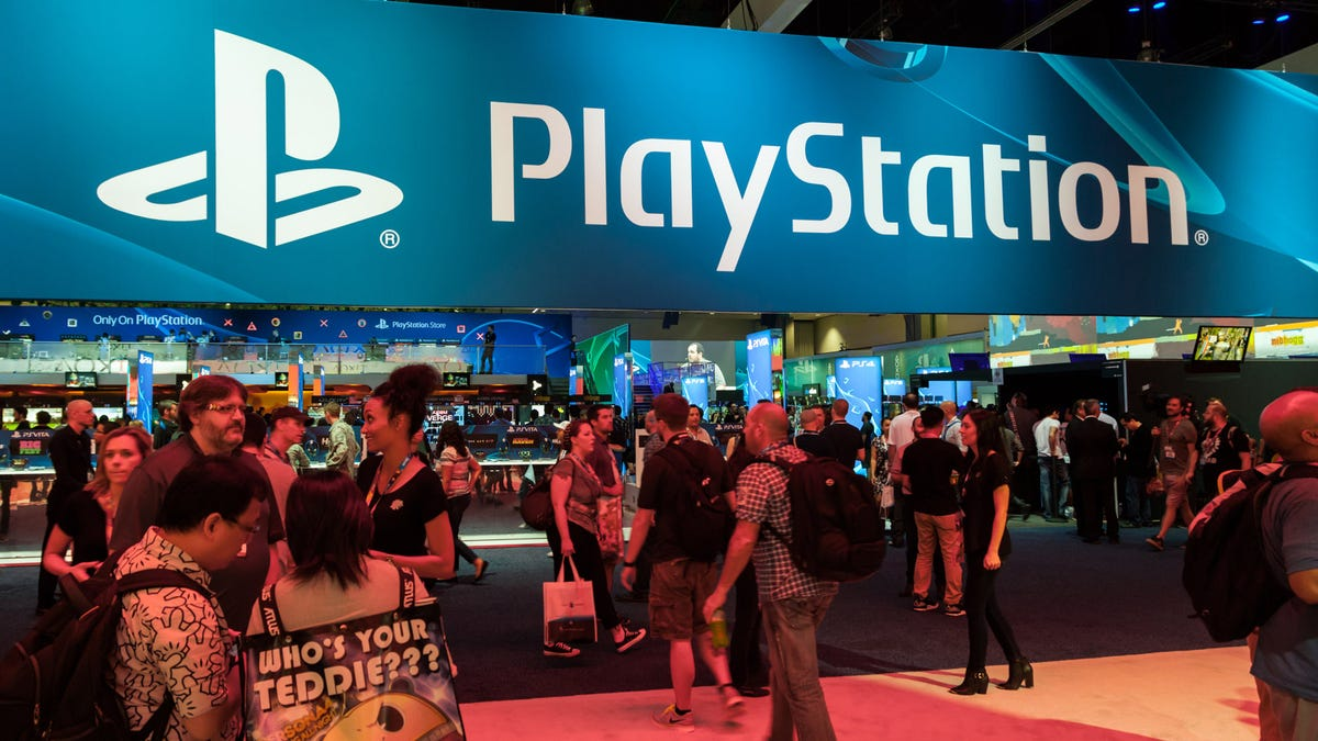 the PlayStation booth at E3.
