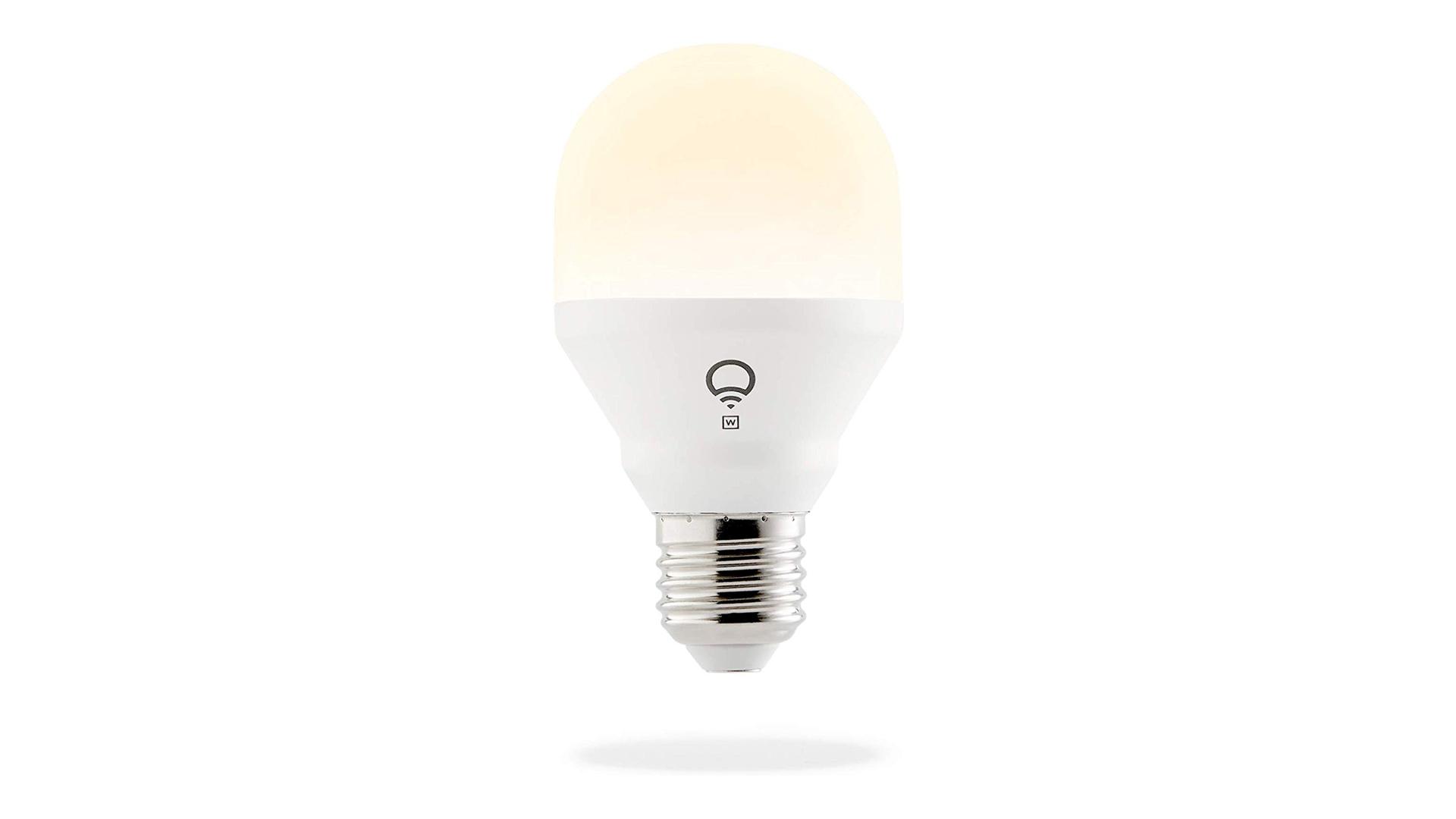 A LIFX A19 smart bulb.