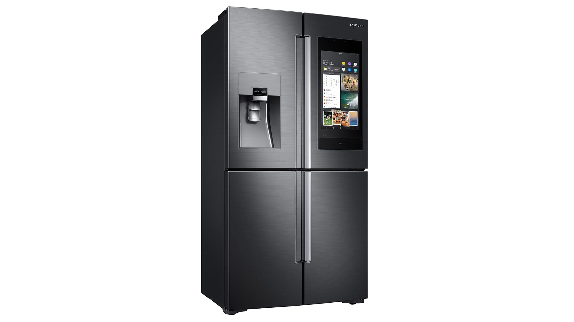 A photo of the Samsung Family Hub fridge.